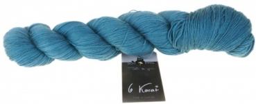 """6 Karat Shadow Farbe 2375  /"""" Lagoon  /"""" Schoppel 100g  Schurwolle Seide"""