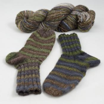 Kremke Soul Wool Lazy Lion Sock Yarn - Earth Wind no Fire